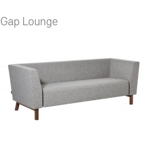 Swedese Gap Lounge bank herstofferen opnieuw bekleden