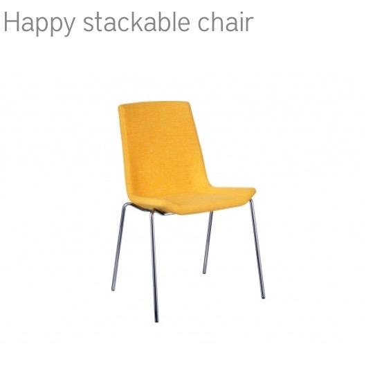 Swedese Happy stackable chair stoel herstofferen opnieuw bekleden