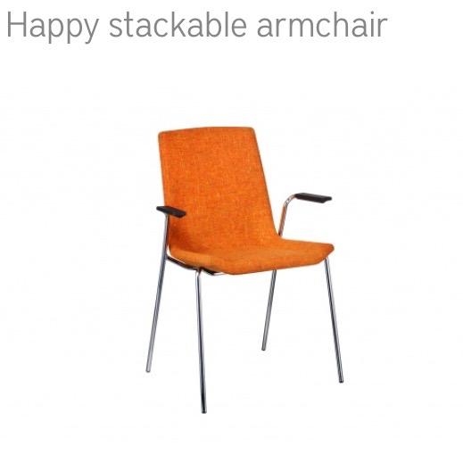 Swedese Stackable armchair stoel herstofferen opnieuw bekleden