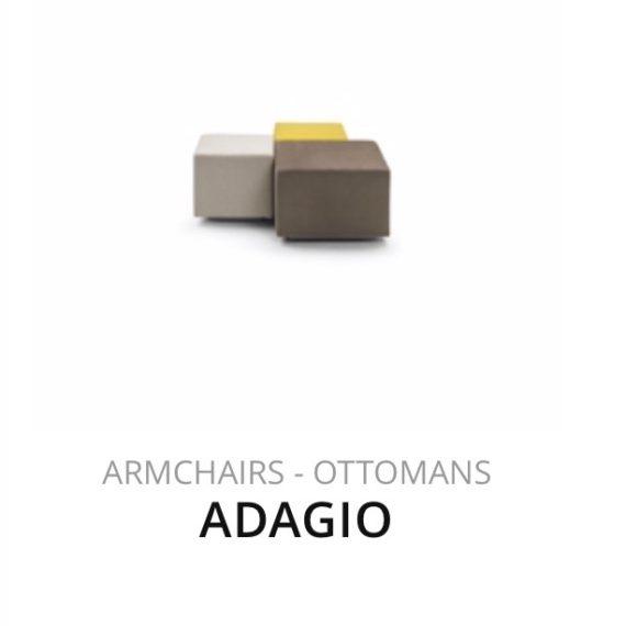Flexform Adagio poef hocker Ottomans herstofferen opnieuw bekleden stofferen herstellen