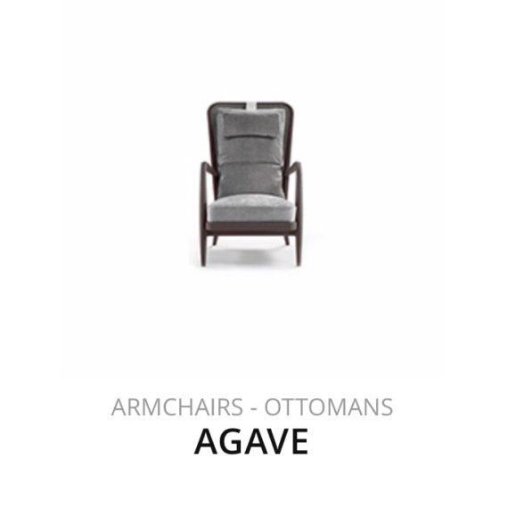 Flexform Agave fauteuil Ottomans herstofferen opnieuw bekleden stofferen herstellen
