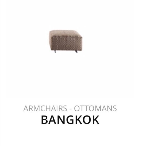 Flexform Bangkok hocker poef herstofferen opnieuw bekleden stofferen herstellen