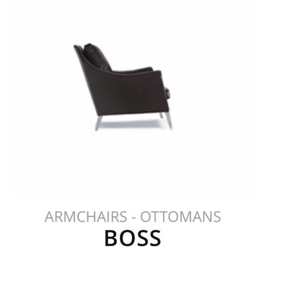 Flexform Boss fauteuil herstofferen opnieuw bekleden stofferen herstellen Ottomans