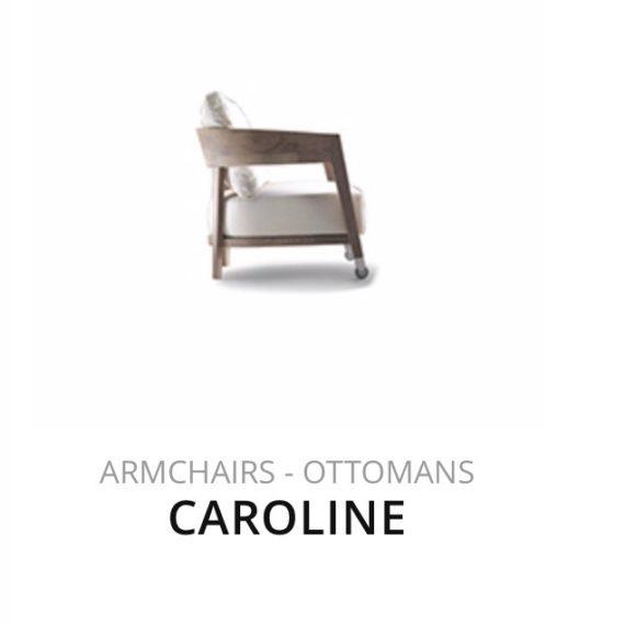 Flexform Caroline fauteuil Ottomans herstofferen opnieuw bekleden stofferen herstellen