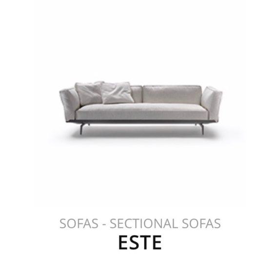 Flexform Este sofa bank herstofferen opnieuw bekleden stofferen herstellen
