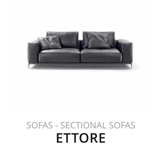 Flexform Ettore sofa bank herstofferen opnieuw bekleden stofferen herstellen