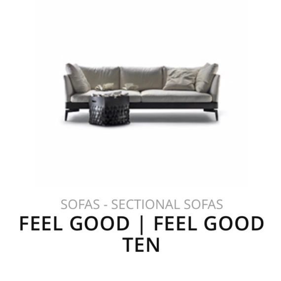 Flexform Feel Good Ten sofa bank herstofferen opnieuw bekleden stofferen herstellen