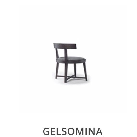 Flexform Gelsomina eetkamerstoel herstofferen opnieuw bekleden stofferen herstellen