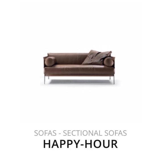 Flexform Happy-Hour sofa bank herstofferen opnieuw bekleden stofferen herstellen