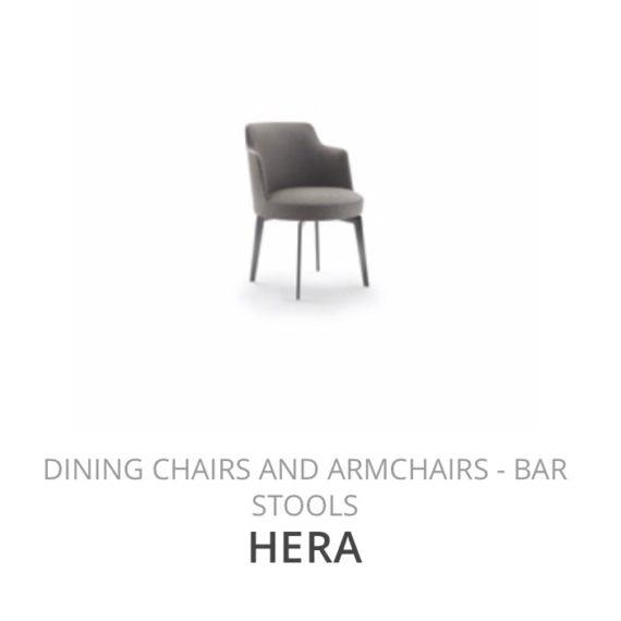 Flexform Hera eetkamerstoel diningchair herstofferen opnieuw bekleden stofferen herstellen