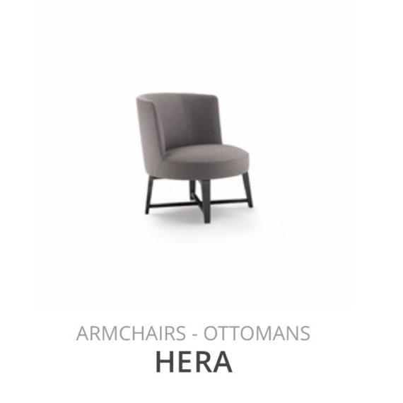 Flexform Hera fauteuil Ottomans herstofferen opnieuw bekleden stofferen herstellen