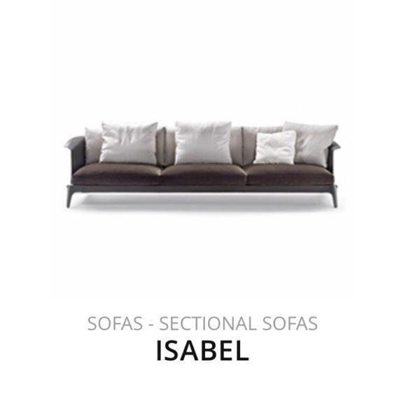 Flexform Isabel bank sofa herstofferen opnieuw bekleden stofferen herstellen