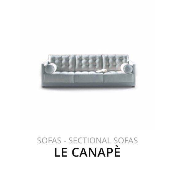 Flexform Le Canapè sofa bank herstofferen opnieuw bekleden stofferen herstellen