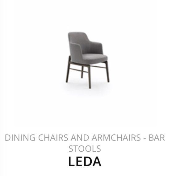 Flexform Leda eetkamerstoel fauteuil herstofferen opnieuw bekleden stofferen herstellen