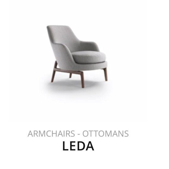 Flexform Leda fauteuil Ottomans herstofferen opnieuw bekleden stofferen herstellen