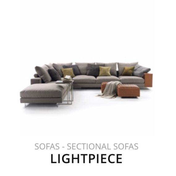 Flexform Lightpiece sofa hoekbank herstofferen opnieuw bekleden stofferen herstellen