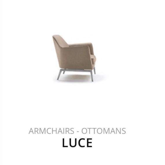 Flexform Luce fauteuil Ottomans herstofferen opnieuw bekleden stofferen herstellen