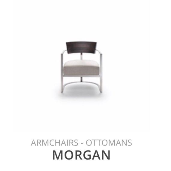 Flexform Morgan fauteuil Ottoman herstofferen opnieuw bekleden stofferen herstellen