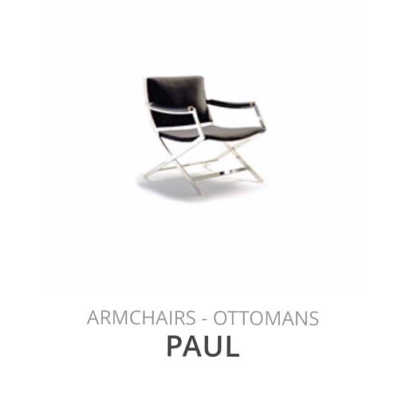 Flexform Paul fauteuil Ottomans herstofferen opnieuw bekleden stofferen herstellen