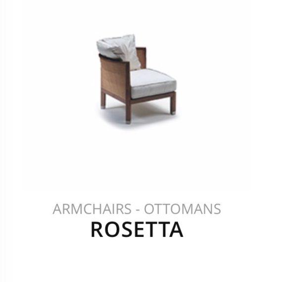 Flexform Rosetta fauteuil Ottomans herstofferen opnieuw bekleden stofferen herstellen