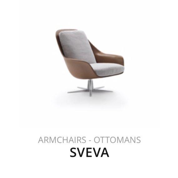 Flexform Sveva fauteuil Ottomans herstofferen opnieuw bekleden stofferen herstellen