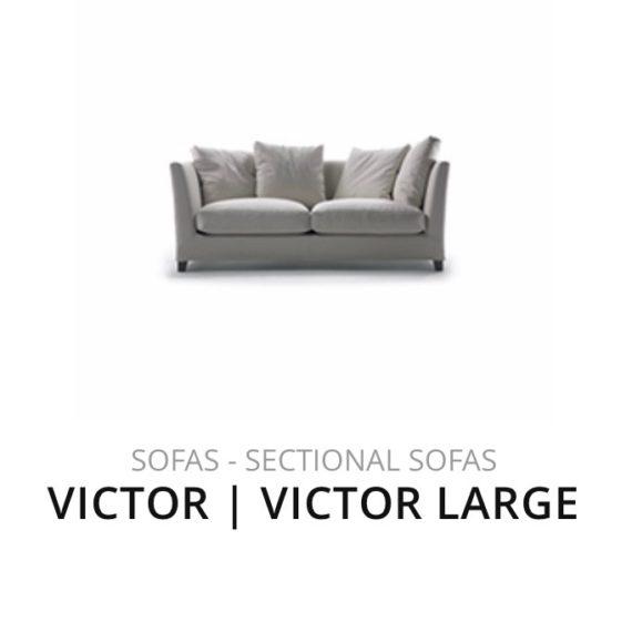 Flexform Victor Large sofa bank herstofferen opnieuw bekleden stofferen herstellen