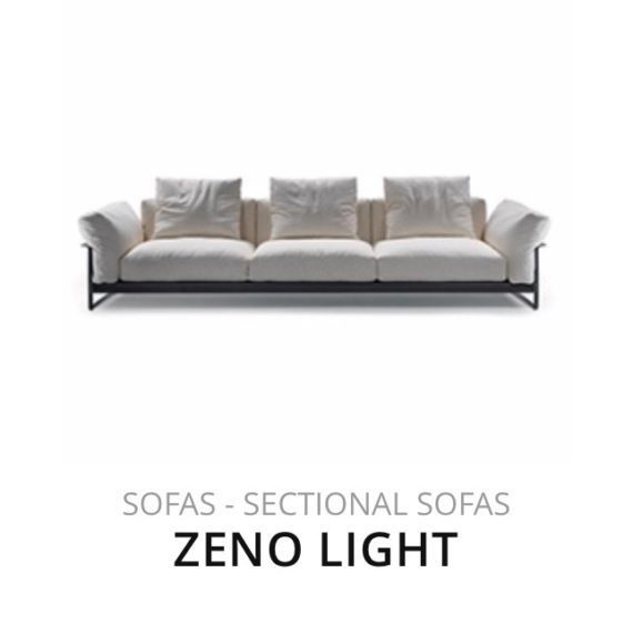 Flexform Zeno Light sofa bank herstofferen opnieuw bekleden stofferen herstellen