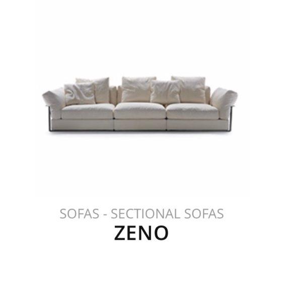 Flexform Zeno sofa bank herstofferen opnieuw bekleden stofferen herstellen