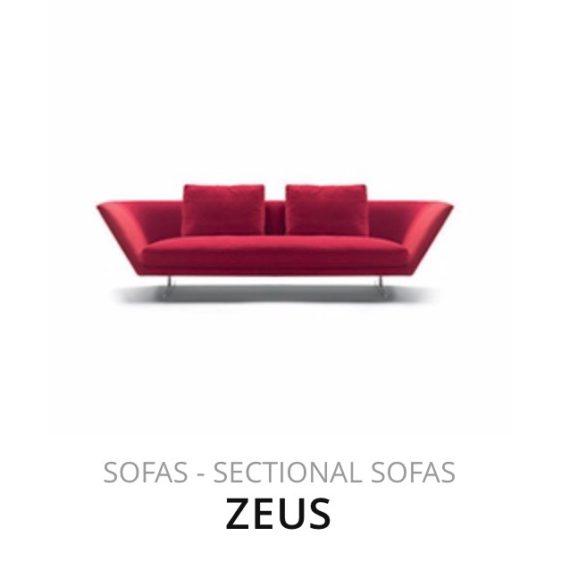 Flexform Zeus sofa bank herstofferen opnieuw bekleden stofferen herstellen